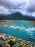 Whataroa flod Nya Zeeland Arkivbilder