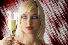 Whatching white wine Royalty Free Stock Photos