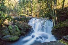 Whatcom falls. A long exposure shot of a waterfall (whatcom falls in washington state Royalty Free Stock Photo