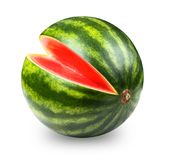 Whatermelon isolated on white. Background. Clipping path included stock photos