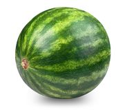 Whatermelon isolated on white. Background. Clipping path included Stock Images