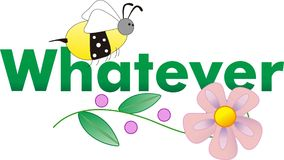 WHATEVER BEE AND FLOWER Royalty Free Stock Photography