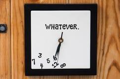Whatever clock Stock Image