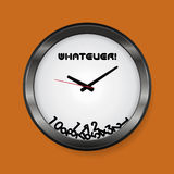 Whatever clock Stock Images