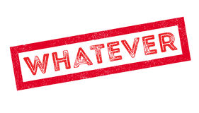 Whatever rubber stamp Royalty Free Stock Images