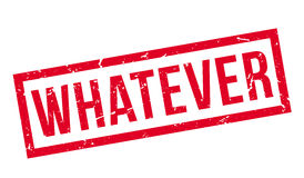 Whatever rubber stamp Stock Images