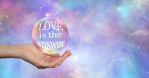 Whatever your Question LOVE is the answer royalty free stock image