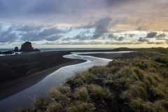 Whatipu regional park. S near to Auckland city, at west coast Royalty Free Stock Photo