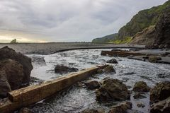 Whatipu regional park. S near to Auckland city, at west coast Royalty Free Stock Photography