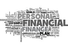 Whats A Career In Personal Finance Word Cloud. WHATS A CAREER IN PERSONAL FINANCE TEXT WORD CLOUD CONCEPT Stock Image