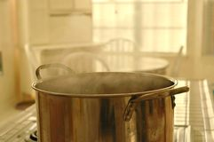 Whats Cooking?. Big pot of boiling something stock photos