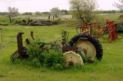 Whats left of an old tractor Royalty Free Stock Photos