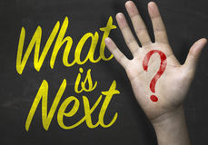 Whats Next on blackboard written on the blackboard Royalty Free Stock Photos