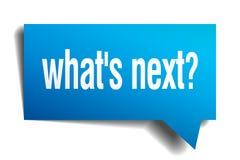 Whats next blue paper speech bubble Royalty Free Stock Photos