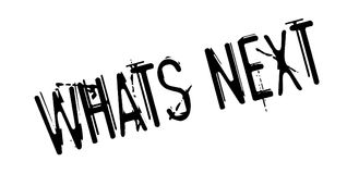 Whats Next rubber stamp Stock Images