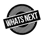 Whats Next rubber stamp Royalty Free Stock Image