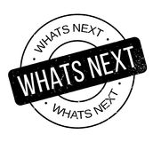 Whats Next rubber stamp Stock Image
