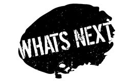 Whats Next rubber stamp Royalty Free Stock Photos