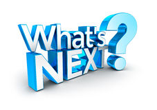 Whats next text Stock Image