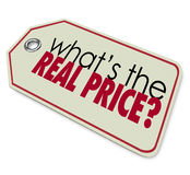 Whats the Real Price Tag Cost Expense Investment Royalty Free Stock Image