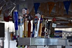Beer Taps at Captain Jacks at Sodus Point, New York Stock Image