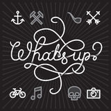 Whats up hipster Icons Stock Photo