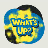Whats up words with halftone background Stock Images