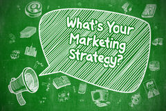 Whats Your Marketing Strategy - Business Concept. Royalty Free Stock Images