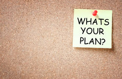 Whats your plan concept, room for text Royalty Free Stock Image
