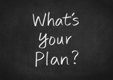 Whats your plan Stock Image