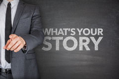 Whats your story on blackboard Royalty Free Stock Images