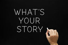 Whats Your Story Blackboard Royalty Free Stock Image