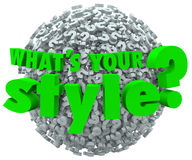 Whats Your Style Question Mark Unique Look Skills Fashion Royalty Free Stock Photo