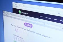 WhatsApp和Viber网页 免版税库存照片