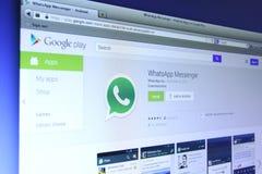WhatsApp goniec na Google sztuce Obrazy Stock