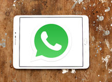 Whatsapp logo. Whatsapp application logo and vector on samsung tablet royalty free stock images