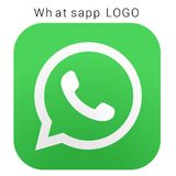 WhatsApp logo with vector Ai file. Squared colored stock illustration