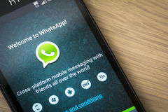 WhatsApp mobilapplikation Royaltyfria Foton