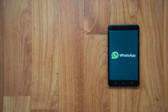 Whatsapp no smartphone Foto de Stock Royalty Free