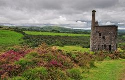 Wheal Betsy engine house Royalty Free Stock Photo