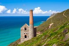 Wheal Coates Cornwall Anglia Fotografia Stock