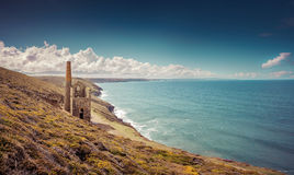 Wheal Coates Mine. A view of Wheal Coates Tin Mine in Cornwall, UK Royalty Free Stock Photos