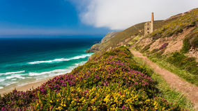 Wheal Coates perto de St Agnes Cornwall Fotos de Stock Royalty Free