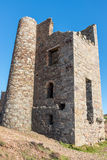 Wheal Coates St Agnes Cornwall. Ruins of Wheal Coates tin mine engine house at St Agnes on the north Cornwall coast in south west England Royalty Free Stock Photo