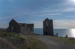 Wheal Coates tin mine buildings Royalty Free Stock Image
