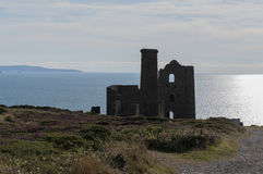 Wheal Coates tin mine Royalty Free Stock Photos