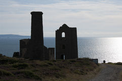 Wheal Coates tin mine in silhouette Stock Photography
