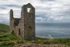 Wheal Edward on the North Cornish Coast. Wheal Edward Mine lies on the cliff edge on the north coast of Cornwall, between the villages of Pendeen and St. Just royalty free stock photos