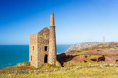 Wheal Owles Cornwall. Wheal Owles at Botallack used as the filming  location of the ficticious Wheal Leisure in the 2015 TV series Poldark Stock Photography