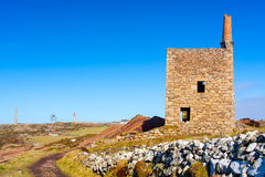 Wheal Owles Cornwall. Wheal Owles at Botallack used as the filming  location of the ficticious Wheal Leisure in the 2015 TV series Poldark Stock Photo